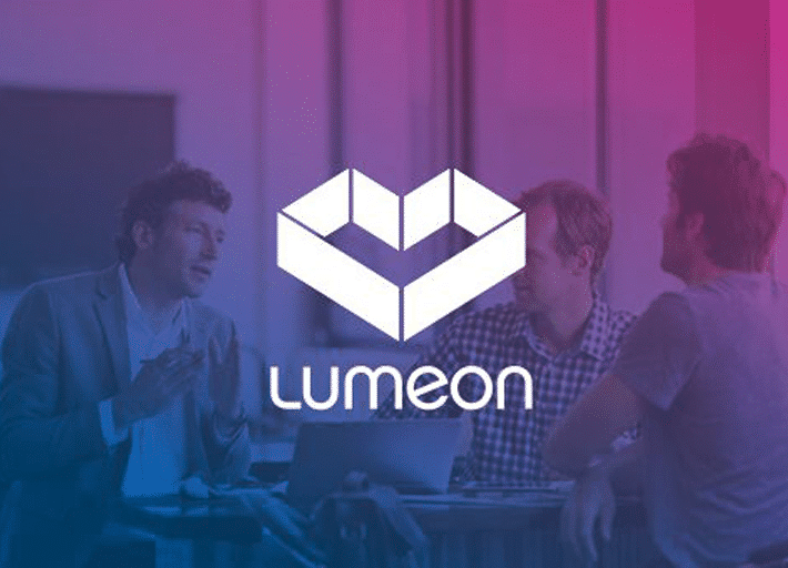 Lumeon Logo on background